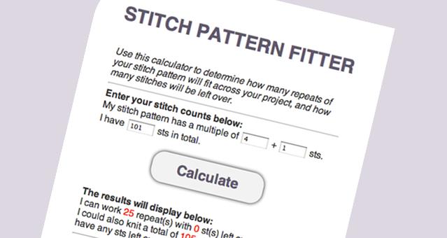 Knitting Stitches Calculator : Stitch Pattern Calculator   Laylock Knitwear Design