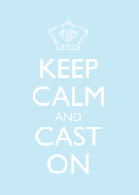 Keep Calm and Cast On - Blue