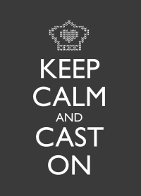 Keep Calm and Cast On - Charcoal