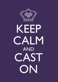 Keep Calm and Cast On - Purple