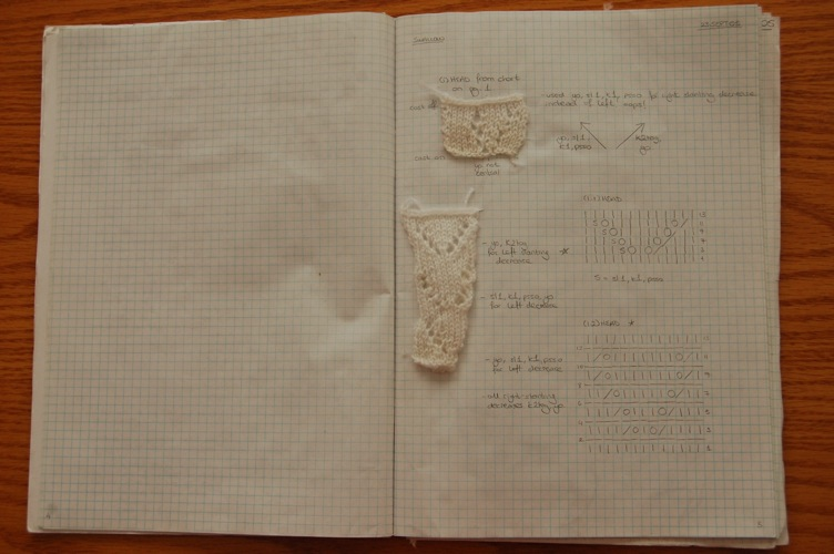 Knit Notebook Page