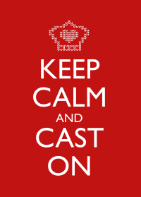 Keep Calm and Cast On - Red