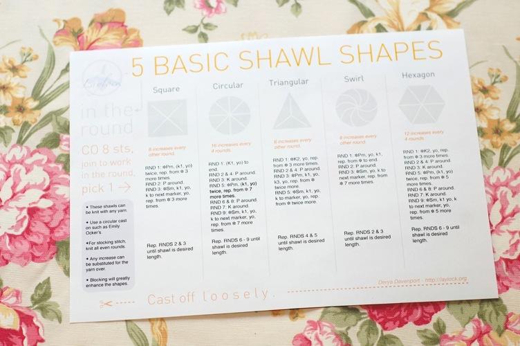Free Circular Shawl Knitting Cheat Sheet Laylock Knitwear Design